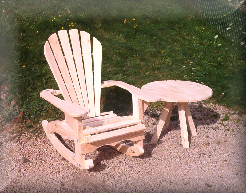 Roundback Adirondack Rocking Chair,Rocker,Rocking chair,Rocking ...